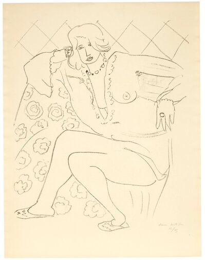 Henri Matisse, 'Figure assise, blouse transparente', 1929