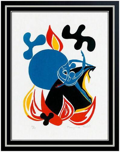 Françoise Gilot, 'Francoise Gilot Original Sur La Pierre Lithograph Hand Signed Abstract Dance Art', 1972