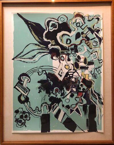 Lydia Dona, 'Large Format Abstract Lithograph Silkscreen Print Edition 2/4', 1980-1989