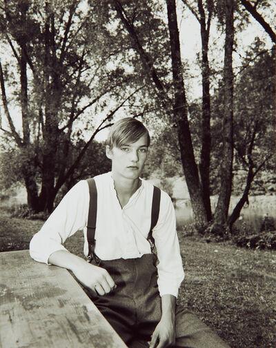 Collier Schorr, 'Andreas Holztisch und Hosentrager Durlanger see', 2002-2003