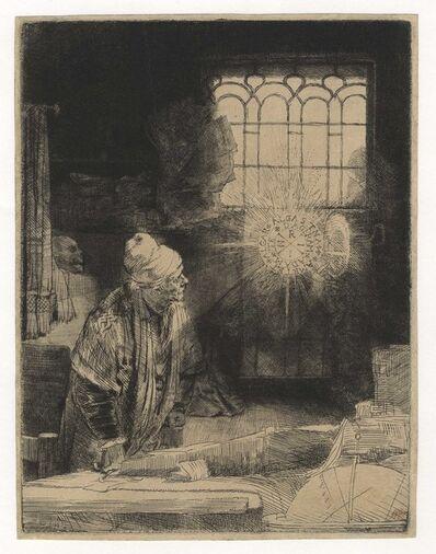 """Rembrandt van Rijn, 'A Scholar in His Study (""""Faust"""")', ca. 1652"""