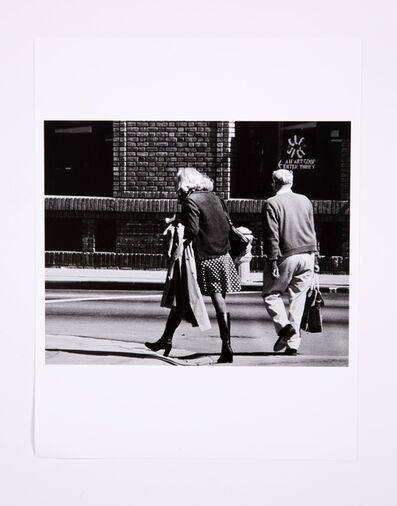Lynn Hershman Leeson, 'Roberta Walking With Preacher in San Diego, Back View', 1975