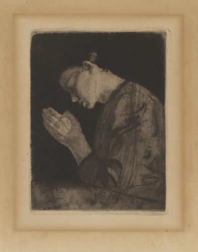 Käthe Kollwitz, 'The Girl in Prayer ', 1931