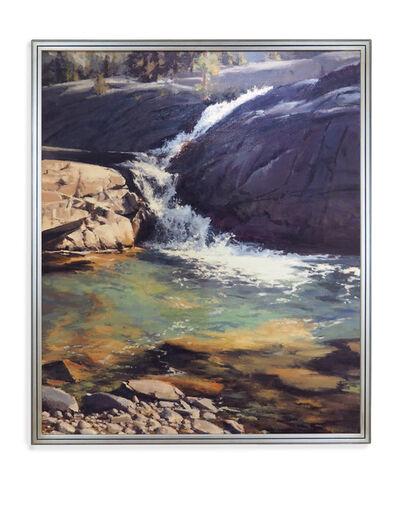 Kate Starling, 'High Mountain Falls (waterfall, river, river rock, blue)', 2020