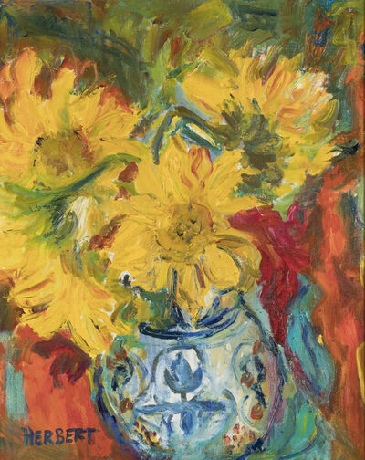 Betty Herbert, 'Yellow Flowers in Blue Vase', 1999