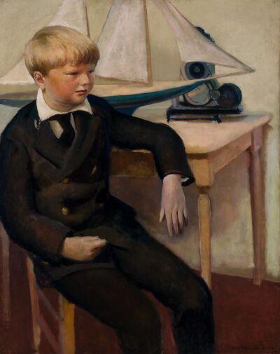 Guy Pène du Bois, 'Captain Billy (Portrait of William Pene du Bois Seated, with a Sailboat Model)', 1925