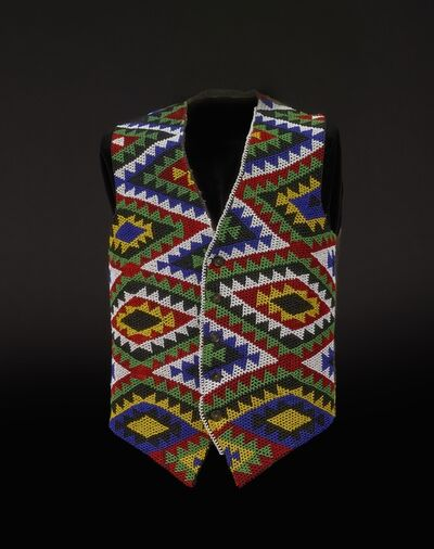 Unknown Artist, 'Beaded waistcoat', before 1987