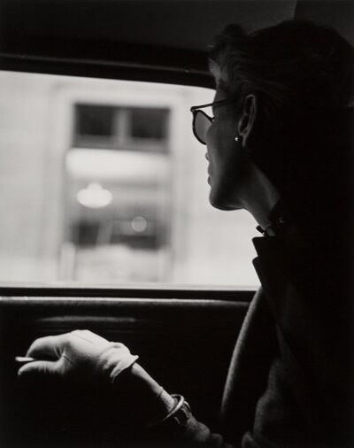 Fernand Fonssagrives, 'Lisa in Taxicab, New York City', 1945