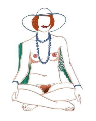 Tom Wesselmann, 'Monica Crosslegged with Beads', 1985