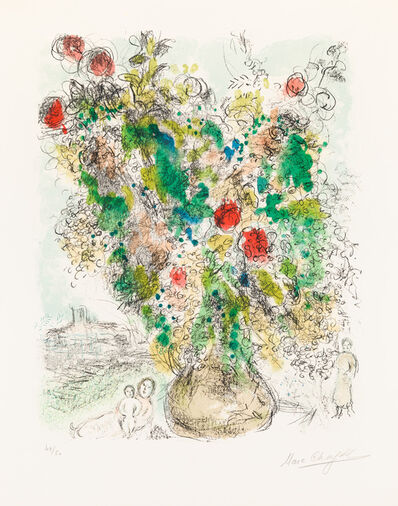 Marc Chagall, 'Roses and Mimosa', 1975