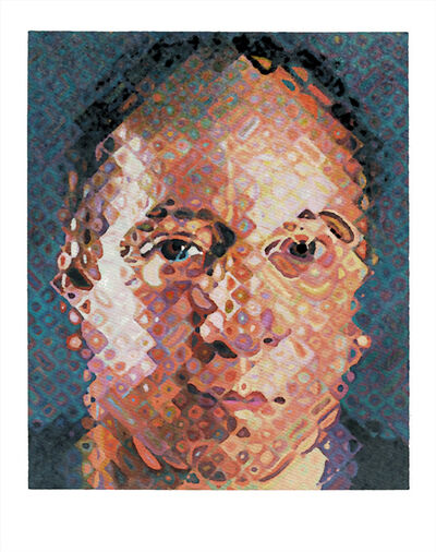 Chuck Close, 'Paul Simon', 2017