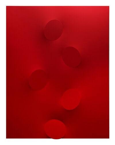 Turi Simeti, '5 ovali rossi', 2014