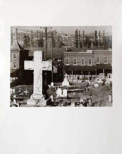Walker Evans, 'Graveyard, houses and steel mill, Bethlehem, Pennsylvania', November 1935
