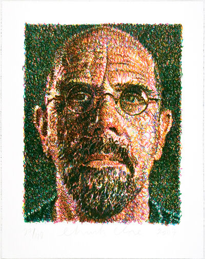 Chuck Close, 'Self Portrait', 2002
