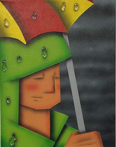 Loc Huynh, 'Green Raincoat', 2021
