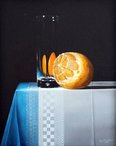 Guy de Jaegher, 'Orange with glass'