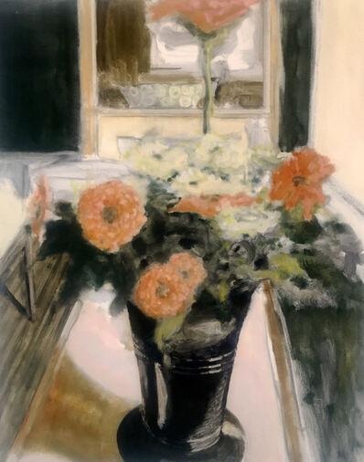 David Konigsberg, 'Vase with Zinnias', 2017