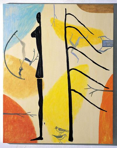 Roberto Barni, 'Mezzo albero e mezza figura', 2003