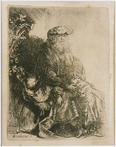 Rembrandt van Rijn and Studio of Rembrandt van Rijn, 'Jacob Caressing Benjamin', ca. 1637