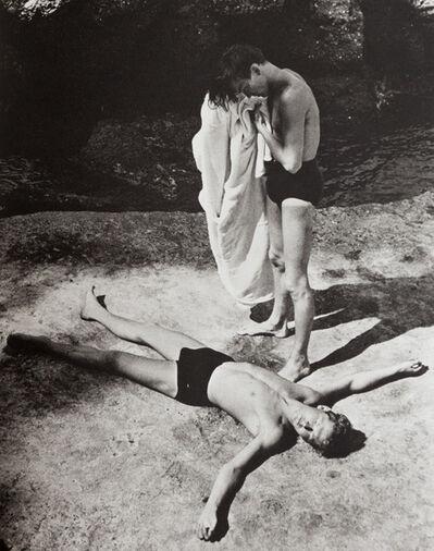 Herbert List, 'After Bath, Portofino, Italy', 1936