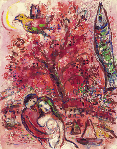 Marc Chagall, 'Cirque Rouge', 1956-1960