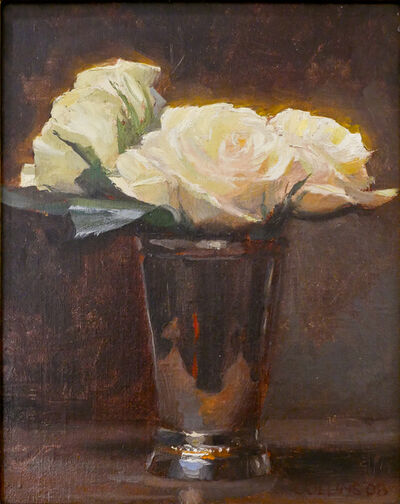 Jacob Collins, 'Roses in a Silver Cup II', 2008