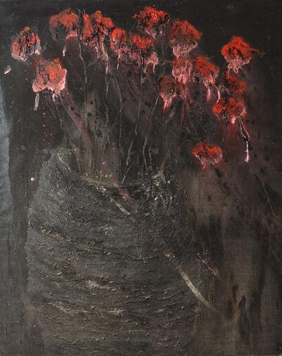 Jean-Gilles Badaire, 'Vase aux fleurs rouges', 2012