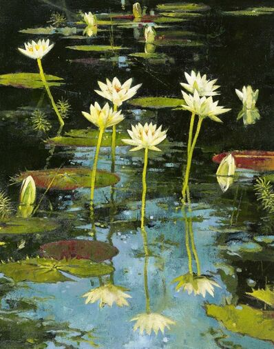 John Alexander, 'Vertical Lilies', 2001