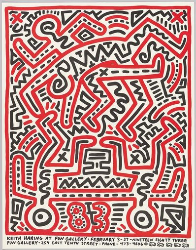 Keith Haring, 'Fun Gallery poster', 1983