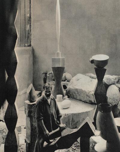 Edward Steichen, 'Brâncuși in The Workshop', negative date: 1927; printing date: 1963