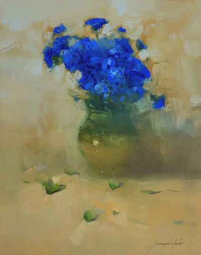 Vahe Yeremyan, 'Vase of Blue Flowers', 2020