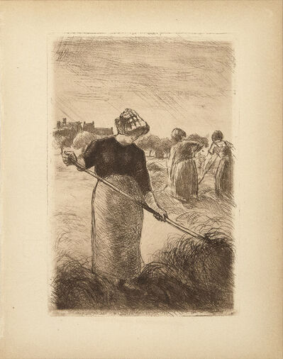 Camille Pissarro, 'Faneuses (Woman Tossing the Hay)', 1890