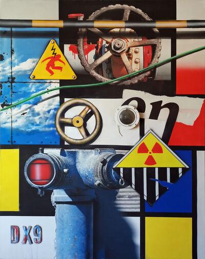 Peter Klasen, 'Hommage à Mondrian', 2016