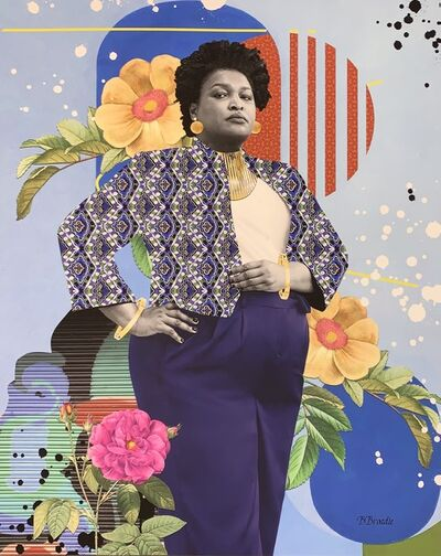 "B. Brody, 'B. Brody Print ""All Blue Everything: A Walk in the Park with Stacey Abrams"" ', 2021"