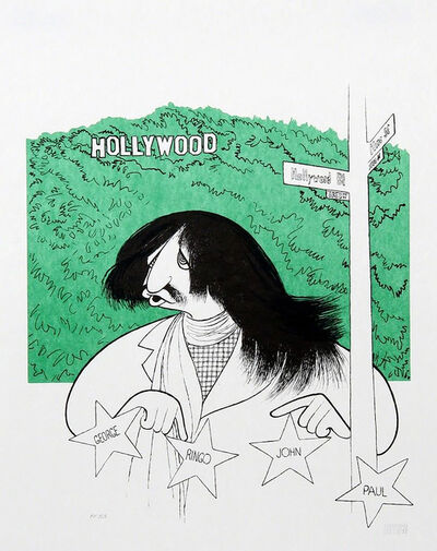 "Al Hirschfeld, '""Ringo Starr Visits Hollywood""', ca. 1996"