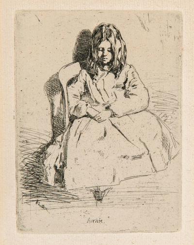 James Abbott McNeill Whistler, 'Annie Seated', 1858-59