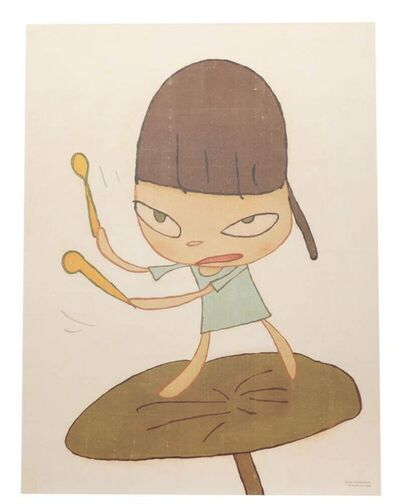 Yoshitomo Nara, 'Marching on a Butterbur Leaf', 2020