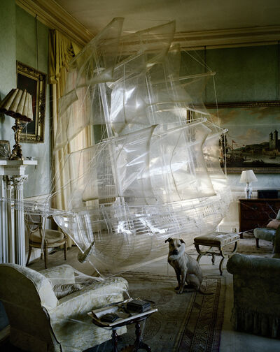 Tim Walker, 'Stig the dog and crystal galleon, Stoke Park Pavilions, Northamptonshire, 2010', 2010