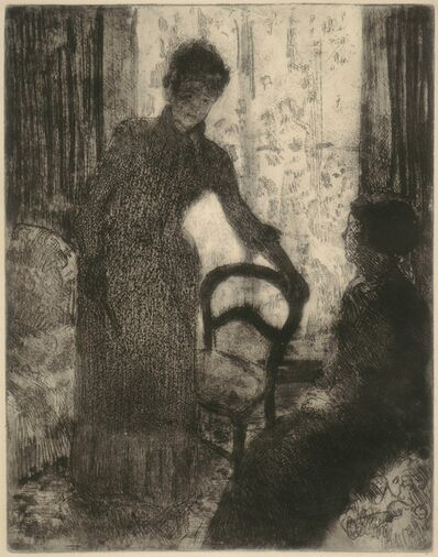 Mary Cassatt, 'The Visitor', ca. 1880