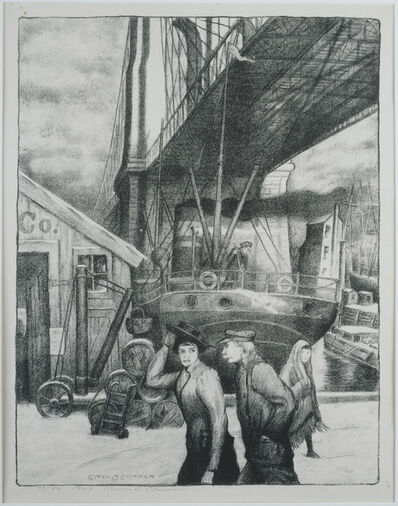 Glenn O. Coleman, 'Under the Bridge', 1928