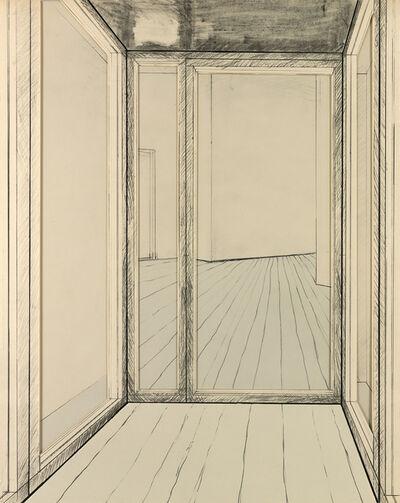 Christo, 'Corridor Store Front, Project', 1968