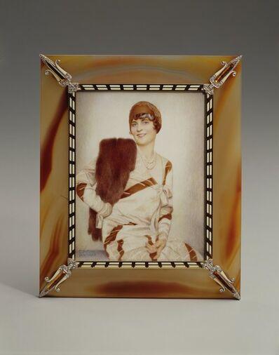 Cartier, 'Frame with Miniature of Marjorie Merriweather Post', 1929