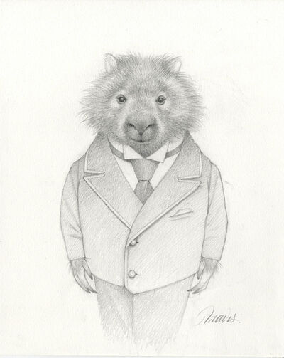 Travis Louie, 'Marvin the Wombat Drawing', 2019