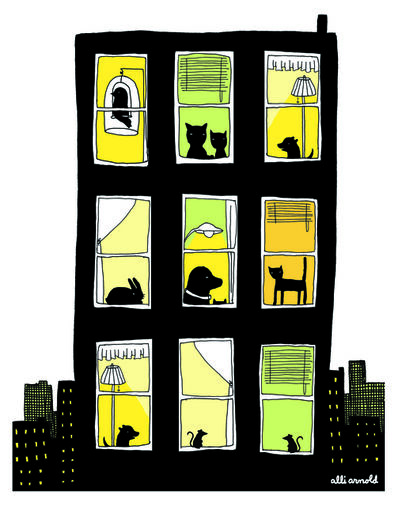 Alli Arnold, 'Pets and the City Print', 2018
