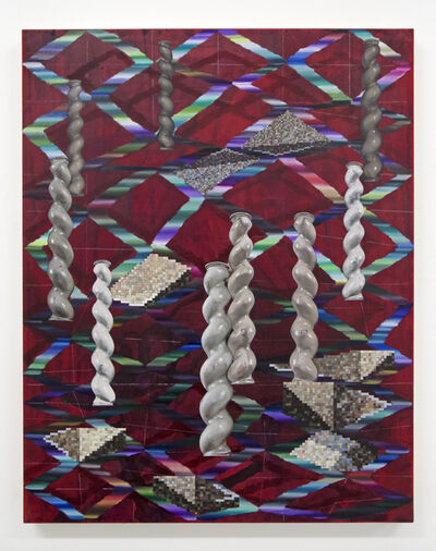 Vivien Zhang, 'Spiral Columns (Marble Messages)', 2020