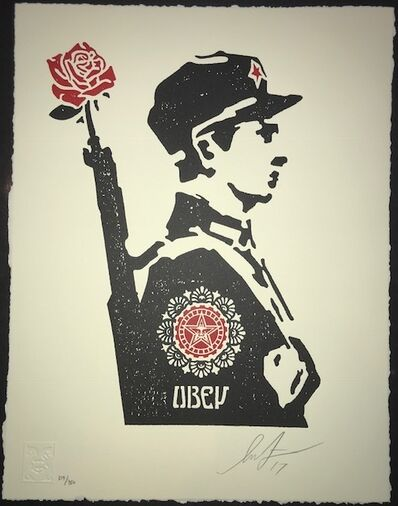 Shepard Fairey, 'Rose Soldier', 2017