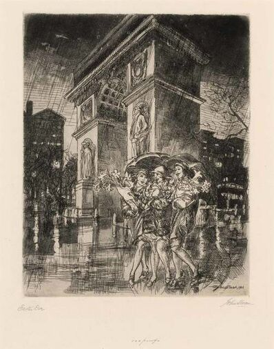John Sloan, 'EASTER EVE, WASHINGTON SQUARE (M. 222)', 1926