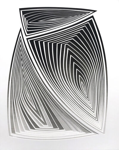 Elizabeth Gregory-Gruen, 'Abstract Freehand Cut with Surgial Scalpel: 'All Over Grey Blend In' ', 2017