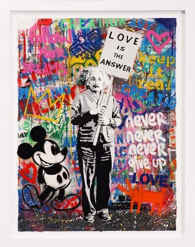 Mr. Brainwash, ''Love Is The Answer' Unique Painting', 2020