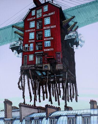Alexei Svetlov, 'Flygende Trondheim forbi Paris', 2019